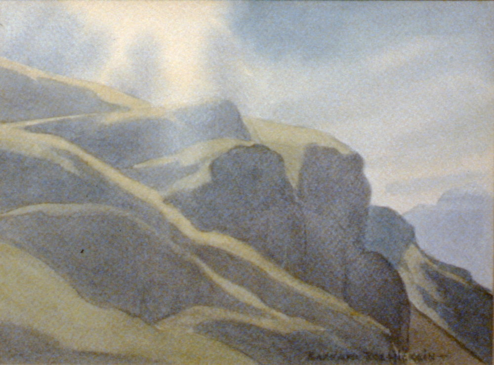 Sun Break, n.d., Barbara Roe Hicklin, watercolour, 23 x 30cm, 1995.10.03
