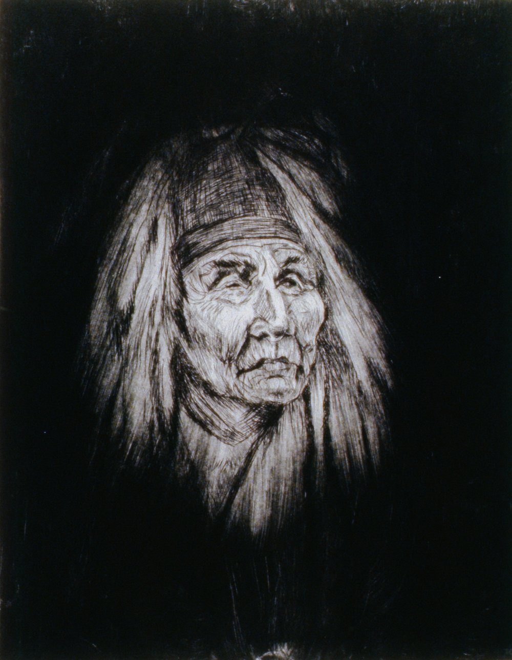 Shaman, 1980, Minn Sjløseth, artist proof, 25 x 20 cm, 1996.02.09