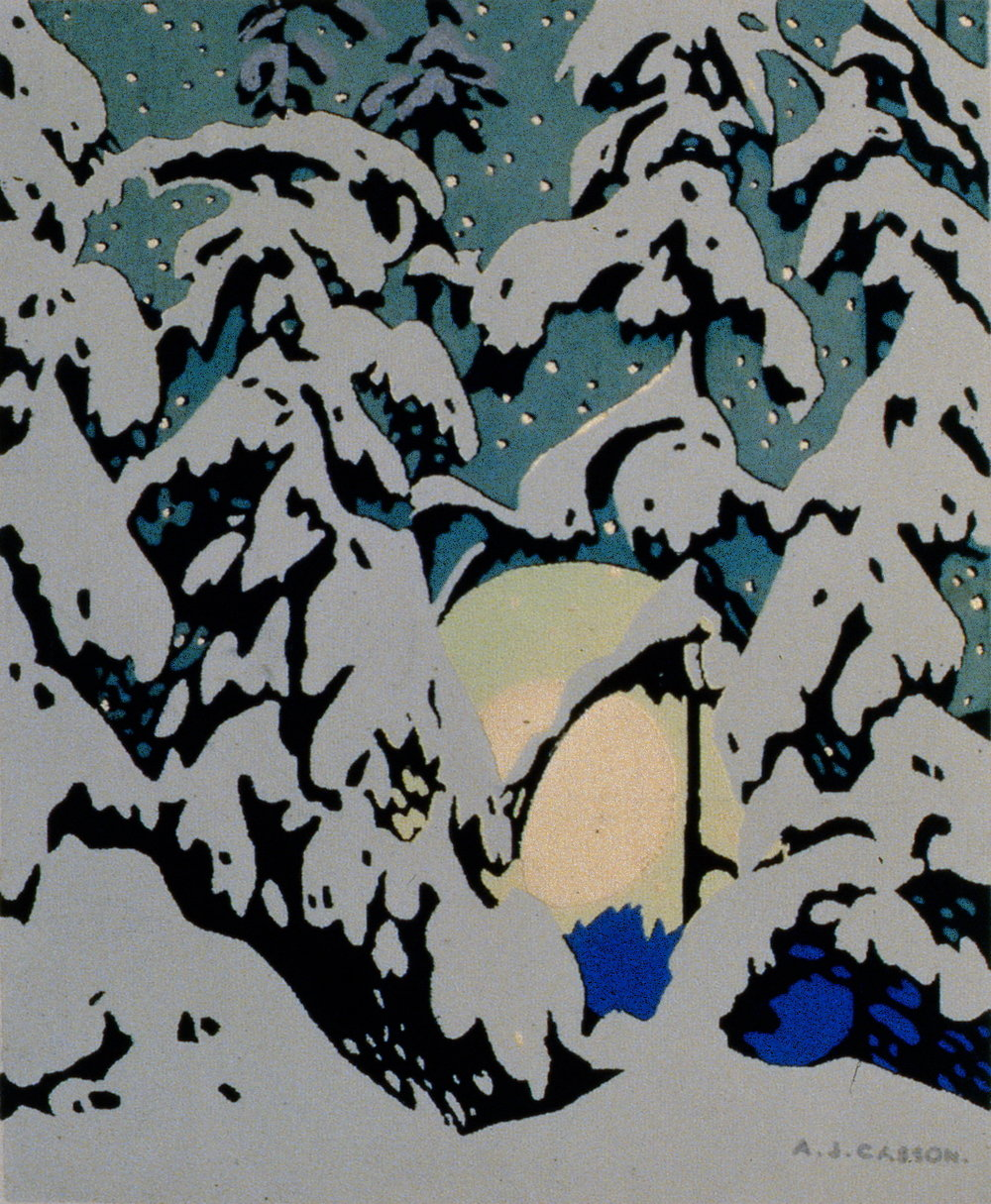 "Untitled, A.J. Casson, serigraph, 4 3/4"" x 3 7/8"", 1984.01.06"