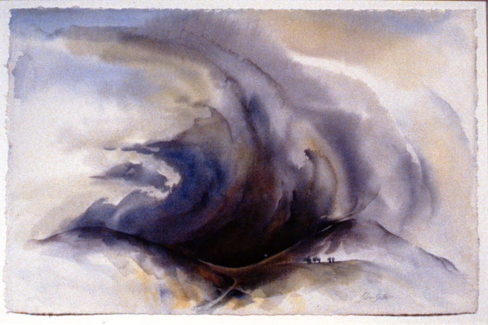 A Power Struggle of the Wind , 1996, Jill Leir Salter, watercolour on paper, 37 x 57 cm, 1997.05.01. Gift of the artist.