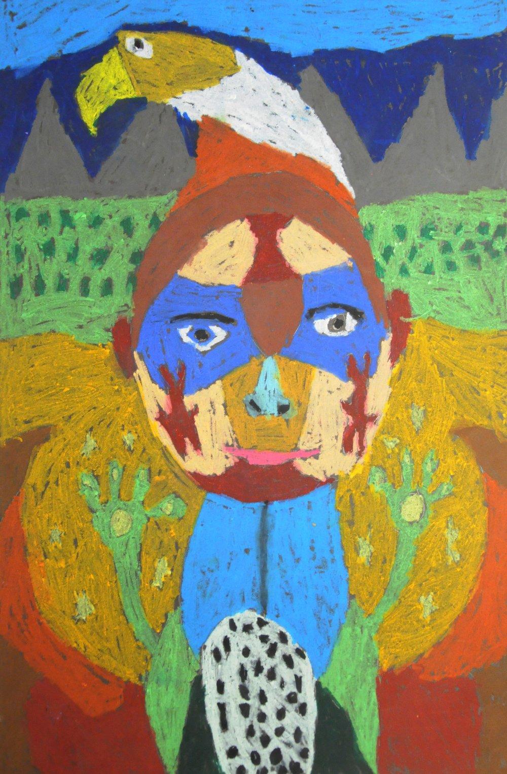 The Spirit Within , 2017, Davin Graham, oil pastels