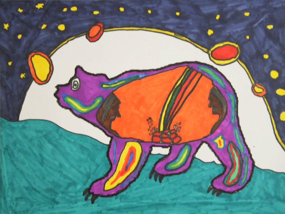 Animal Spirits , 2017, Preston Gabriel, coloured marker on paper