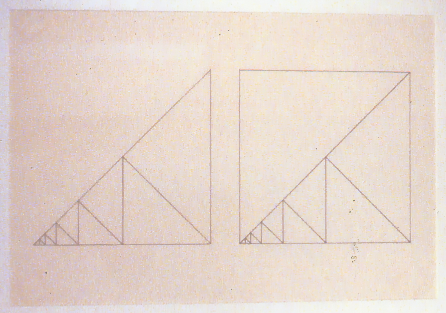 "Untitled, 1982, Carl Granzow, two components,  steel and graphite on paper, sculpture 17"" x 34"" and drawing 29"" x 22"", 2000.03.01, gift of Brenda Fredrick and Ron Gust"