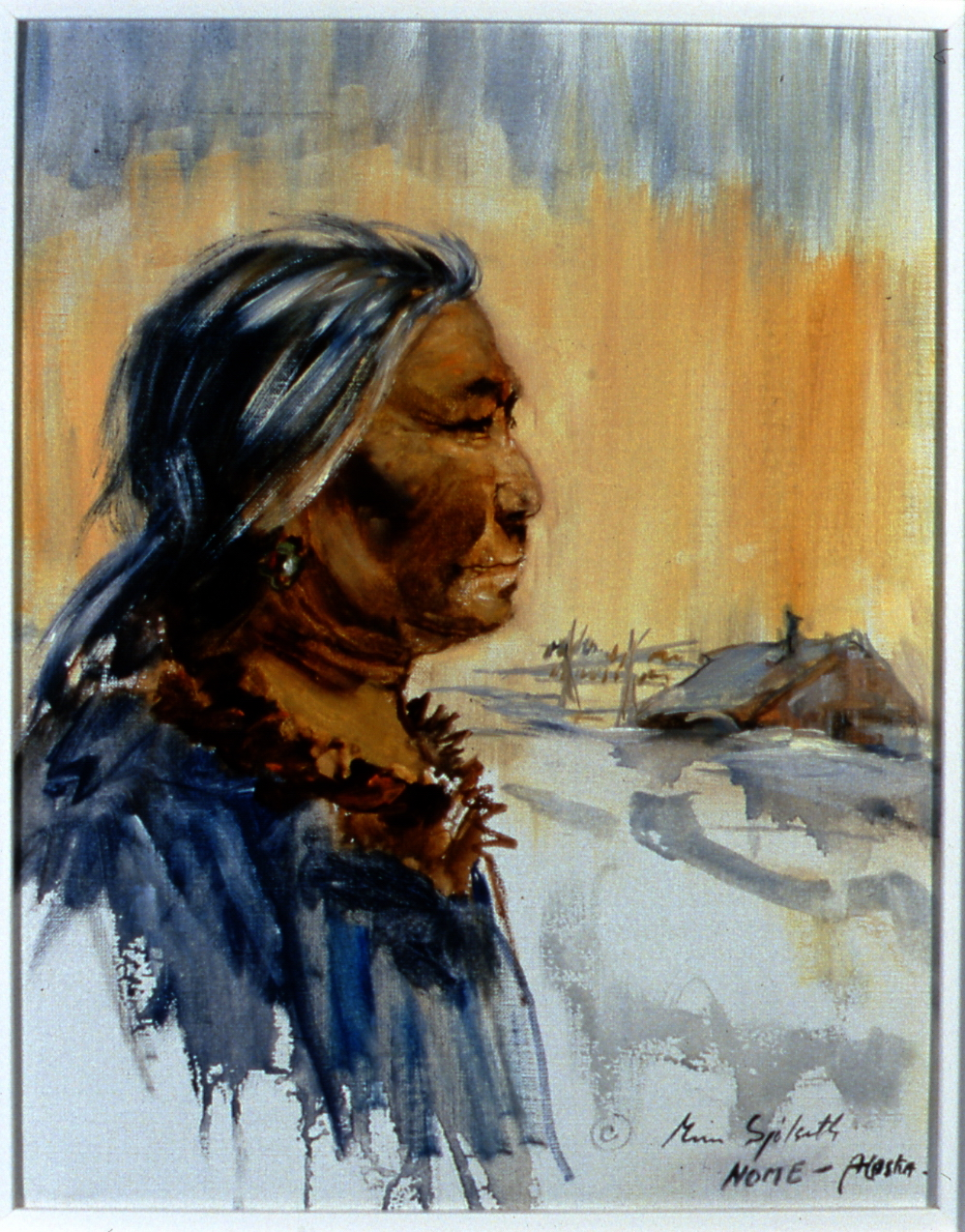 "Teresa,  1982,   Minn Sjølseth, oil on canvas, 13 1/2"" x 10 1/2"", 2000.04.01, gift of Al and Laila Campbell"