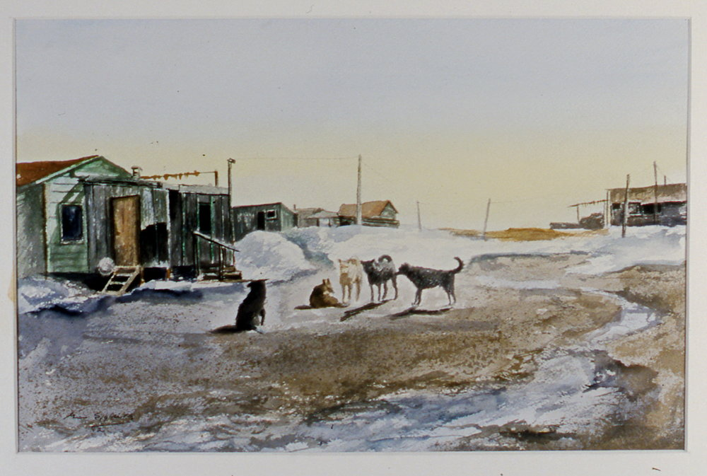 "Spring Day,  1982, Minn Sjølseth, watercolour, 9 1/4"" x 13 1/2"", 2000.04.03, gift of Al and Laila Campbell"