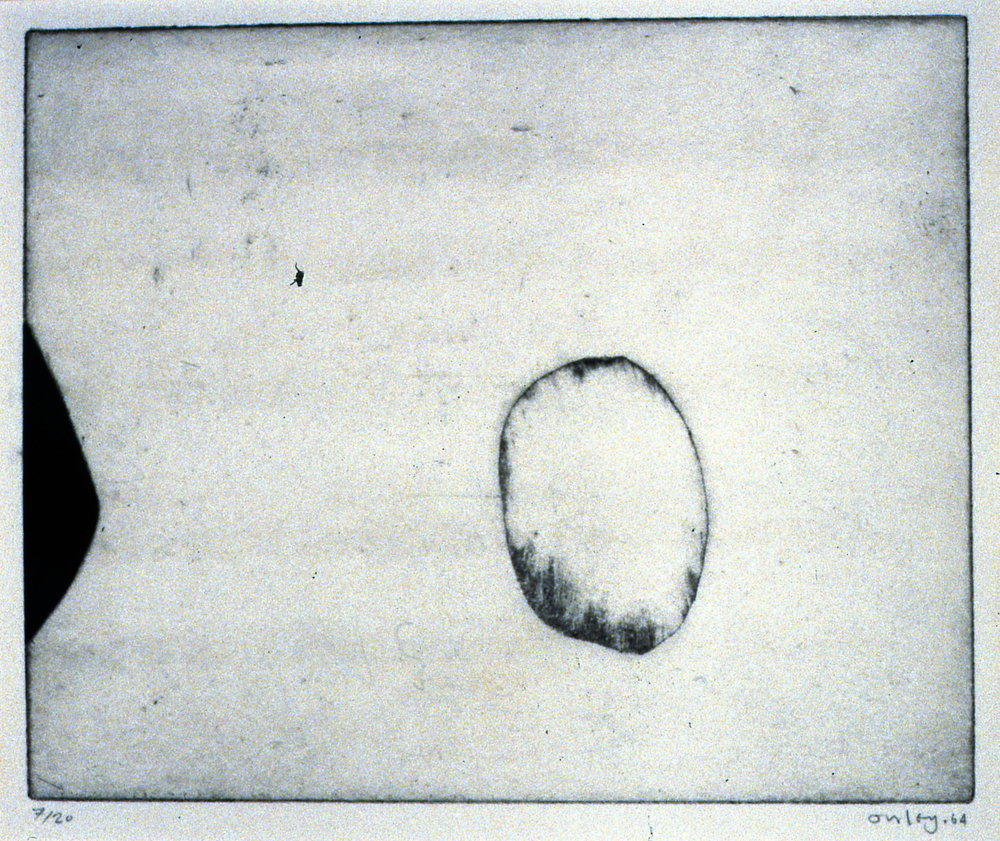 Untitled, 1964, Toni Onley, etching, 23 cm x 28 cm, 2001.04.01. Gift of the Estate of Ethel & Maurice Joslin.