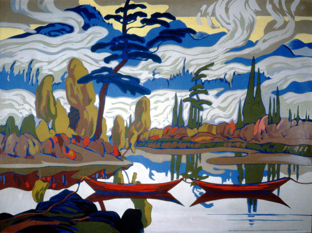 Mist Fantasy,  n.d., J.E.H. MacDonald, serigraph, 76.2 cm x 101.6 cm, 2001.04.16. Gift of the Estate of Ethel & Maurice Joslin.
