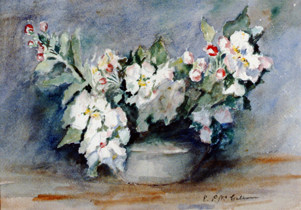 Flowers,  n.d., Ethel McCallum, watercolour, 33 cm x 47 cm, 2001.04.19, gift of the Estate of Ethel & Maurice Joslin