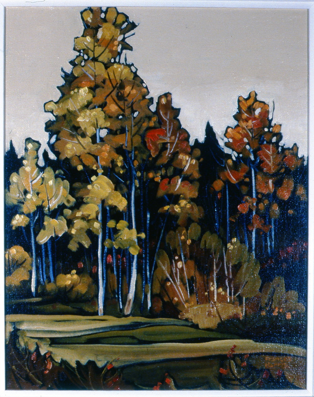 Autumn Fantasy,  1979, Frances Harris, oil on board, 51 cm x 40 1/2 cm, 2002.01.01, gift of Harold Cairns