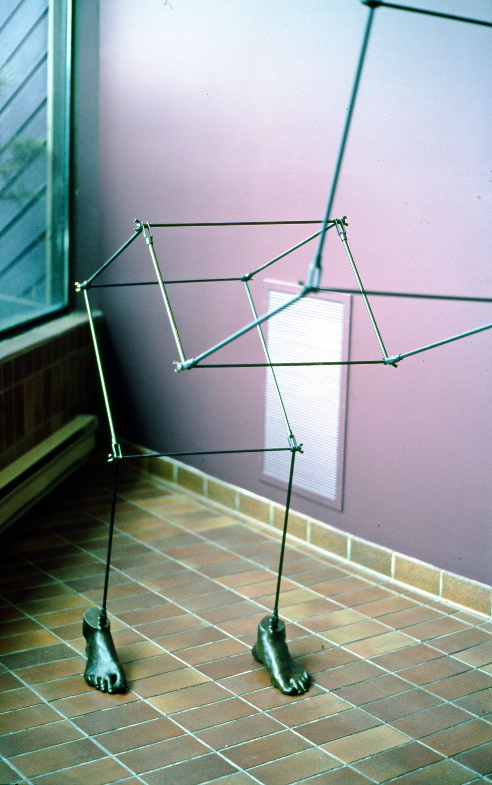 "Unfolding,  2001, Kip Jones, steel and bronze, 7' x 3' x 6"", 2002.04.01, gift of the artist"