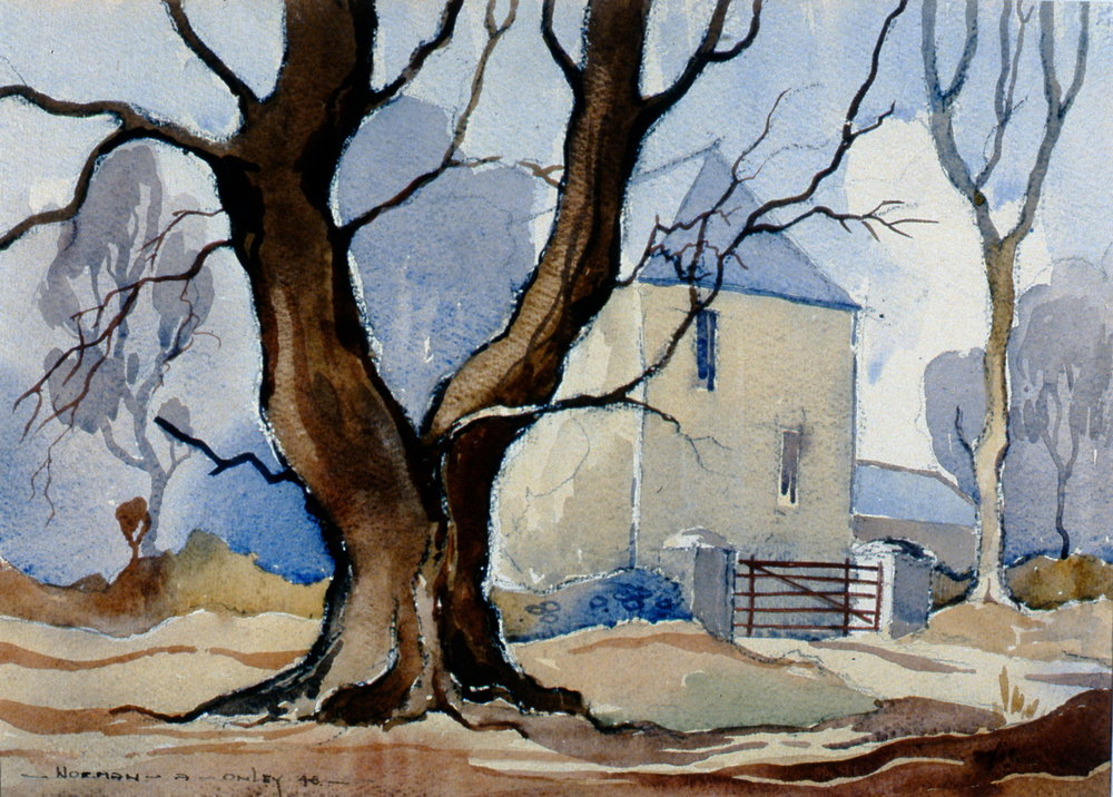 On Isle of Man , 1948, Toni Onley, watercolour on peper, 26 cm x 36 cm, 2002.07.04. Gift of Katherine Lytle.