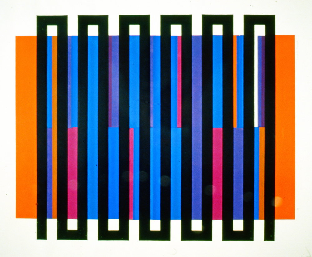 "Untitled, c. 1967, Gordon Smith, serigraph, no edition number, 20 1/2"" x 16"", 2003.06.06, gift of Mrs. Rosita Tovell"