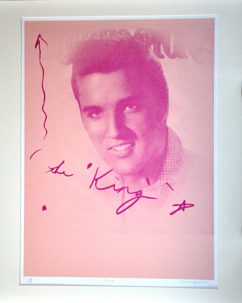 "Elvis,  2000, Carl Beam, serigraph on paper, edition 35/200, 30"" x 20"", 2006.05.01, gift of the Milton Winberg Foundation"