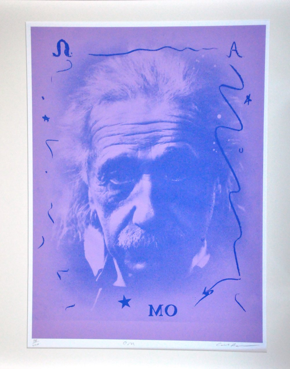 "Einstein M.O.,  2000, Carl Beam, serigraph on paper, edition 88/200, 30"" x 22"", 2006.05.05, gift of the Milton Winberg Foundation"