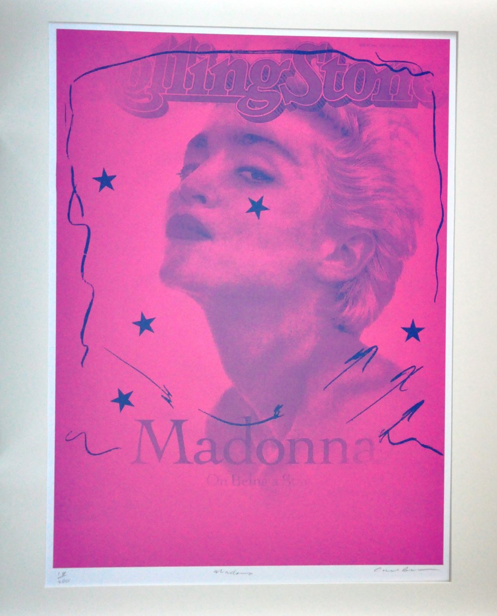 "Madonna,  2000, Carl Beam, serigraph on paper, edition 18/200, 30"" x 22"", 2006.05.06, gift of the Milton Winberg Foundation"
