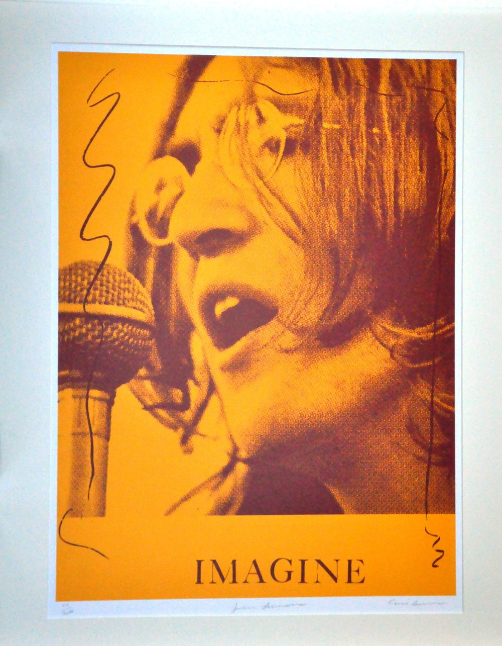 "John Lennon,  2000, Carl Beam, serigraph on paper, edition 54/200, 30"" x 22"", 2006.05.07, gift of the Milton Winberg Foundation"
