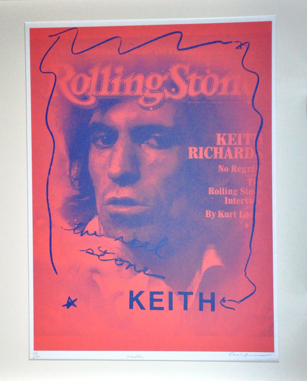 "Keith,  2000, Carl Beam, serigraph on paper, edition 75/200, 30"" x 22"", 2006.05.08, gift of the Milton Winberg Foundation"