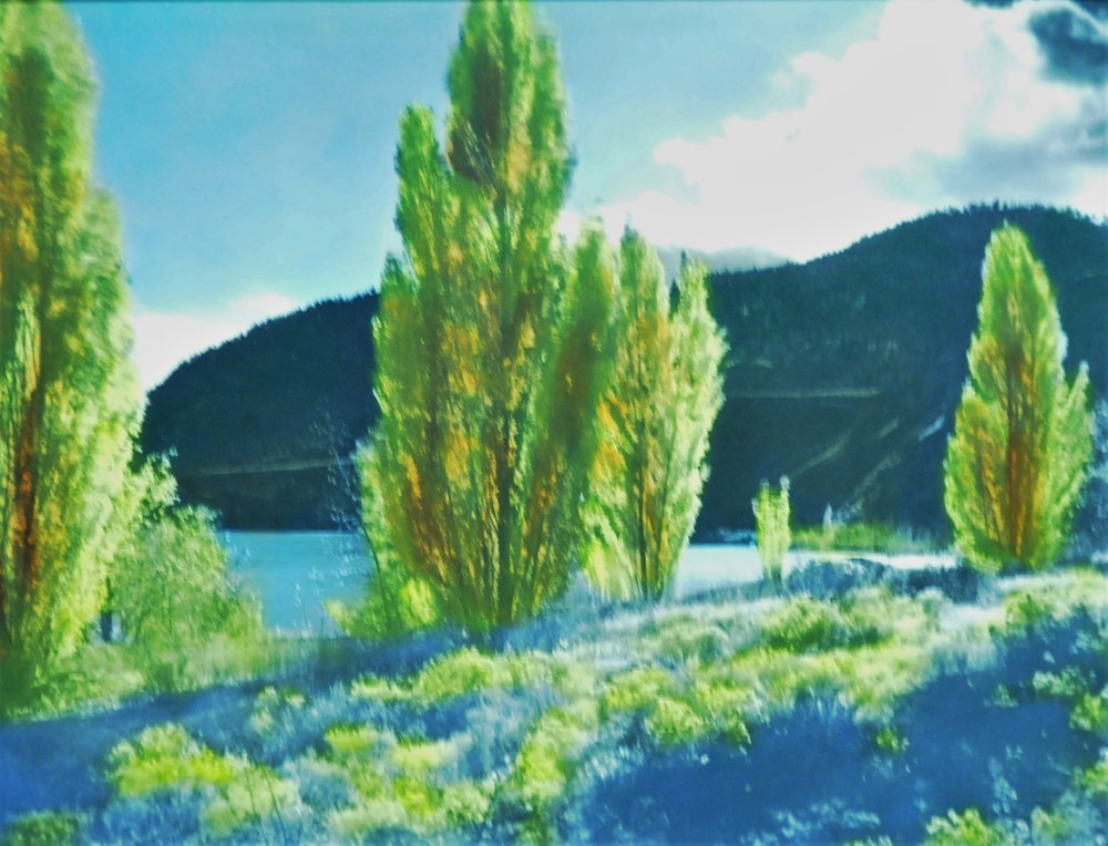 Autumn Tints,  n.d., Lumb Stocks, tinted photograph, 19 x 24.5 cm, 2007.03.10. Gift of Kirsten & Ron Candy.