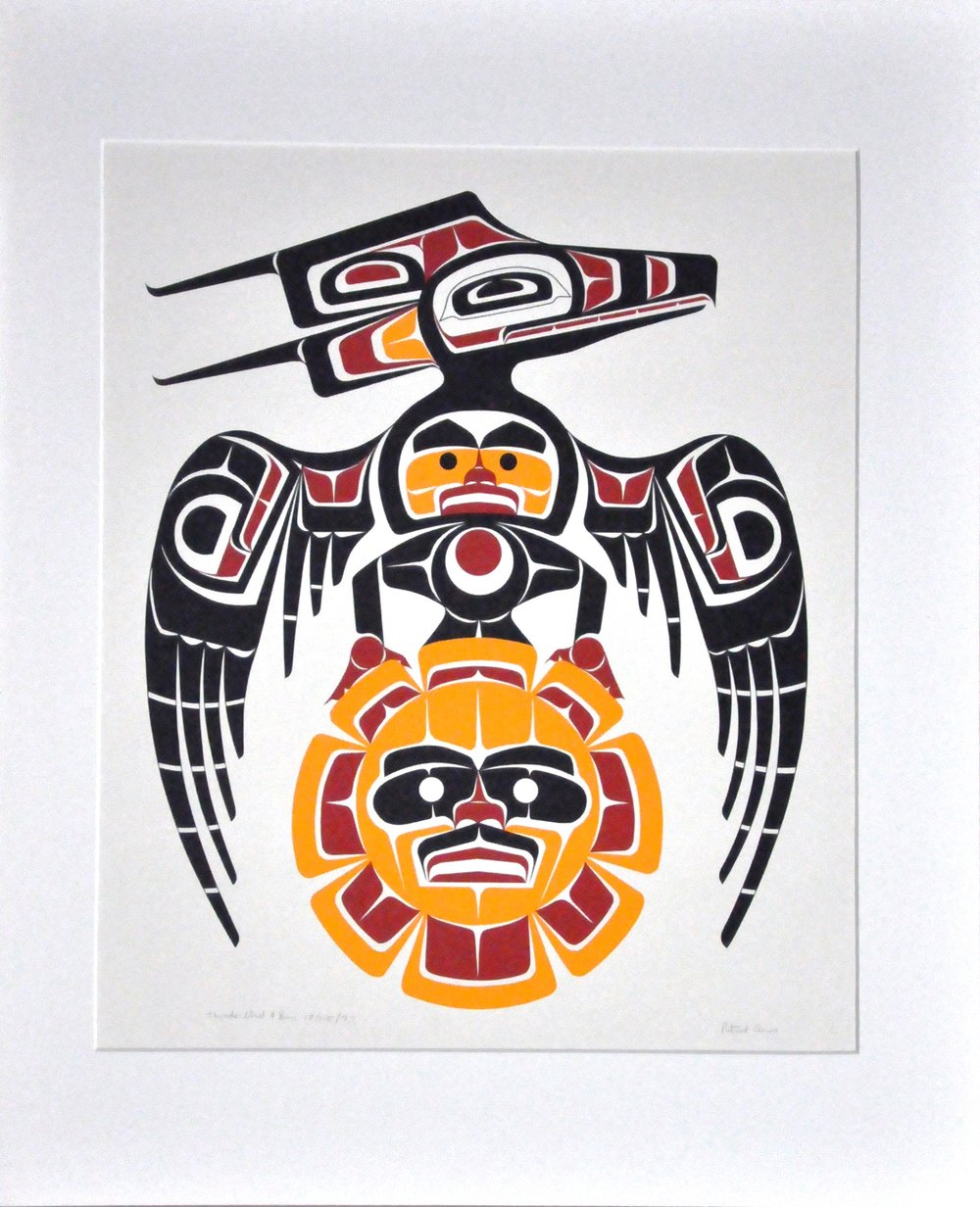"Thunderbird and Sun , 1977, Patrick Amos, serigraph, edition 15/115, 20"" x 18"", 2008.03.04"