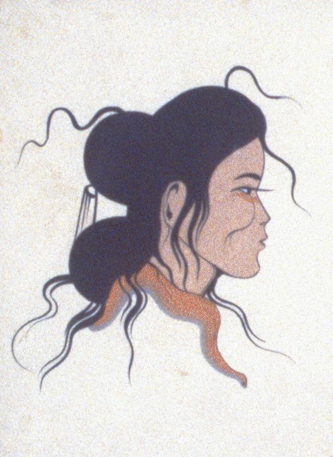 Untitled, Robert Chee, tempera on card, 982.01.01