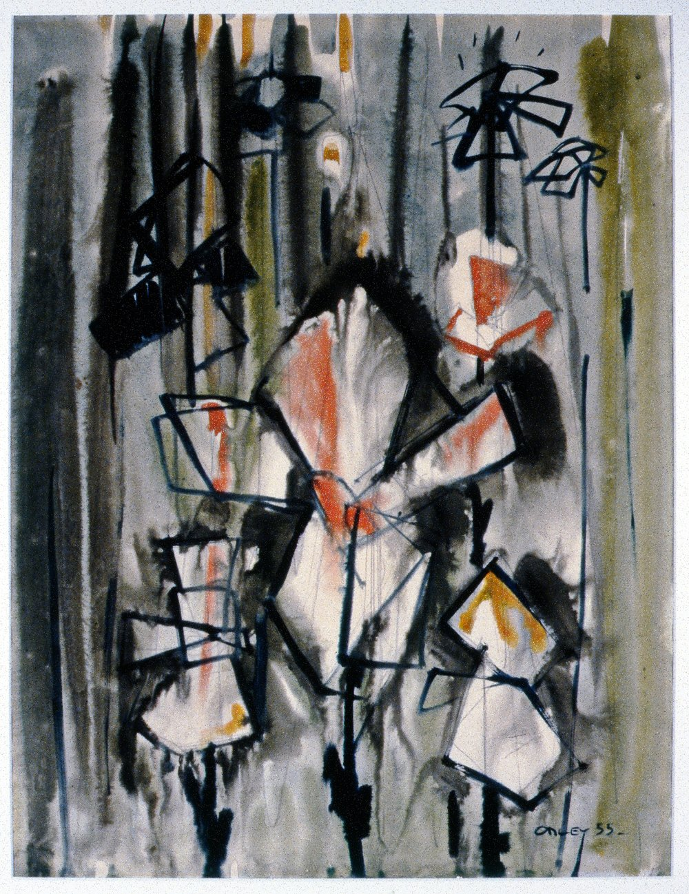 Untitled, 1955, Toni Onley, painting, 34.3 cm x 50.8 cm, 2001.04.09. Gift of the Estate of Ethel & Maurice Joslin.