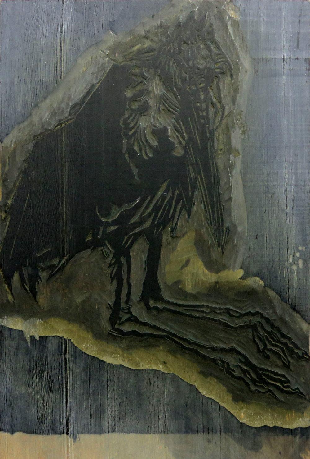 Marabou Stork woodcut block.jpg