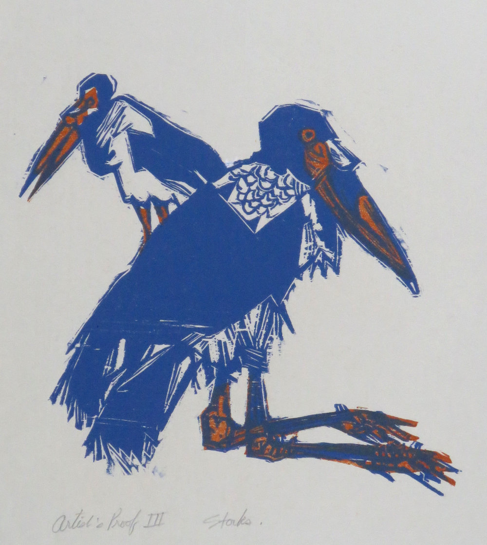 Storks woodcut artist's proof.JPG