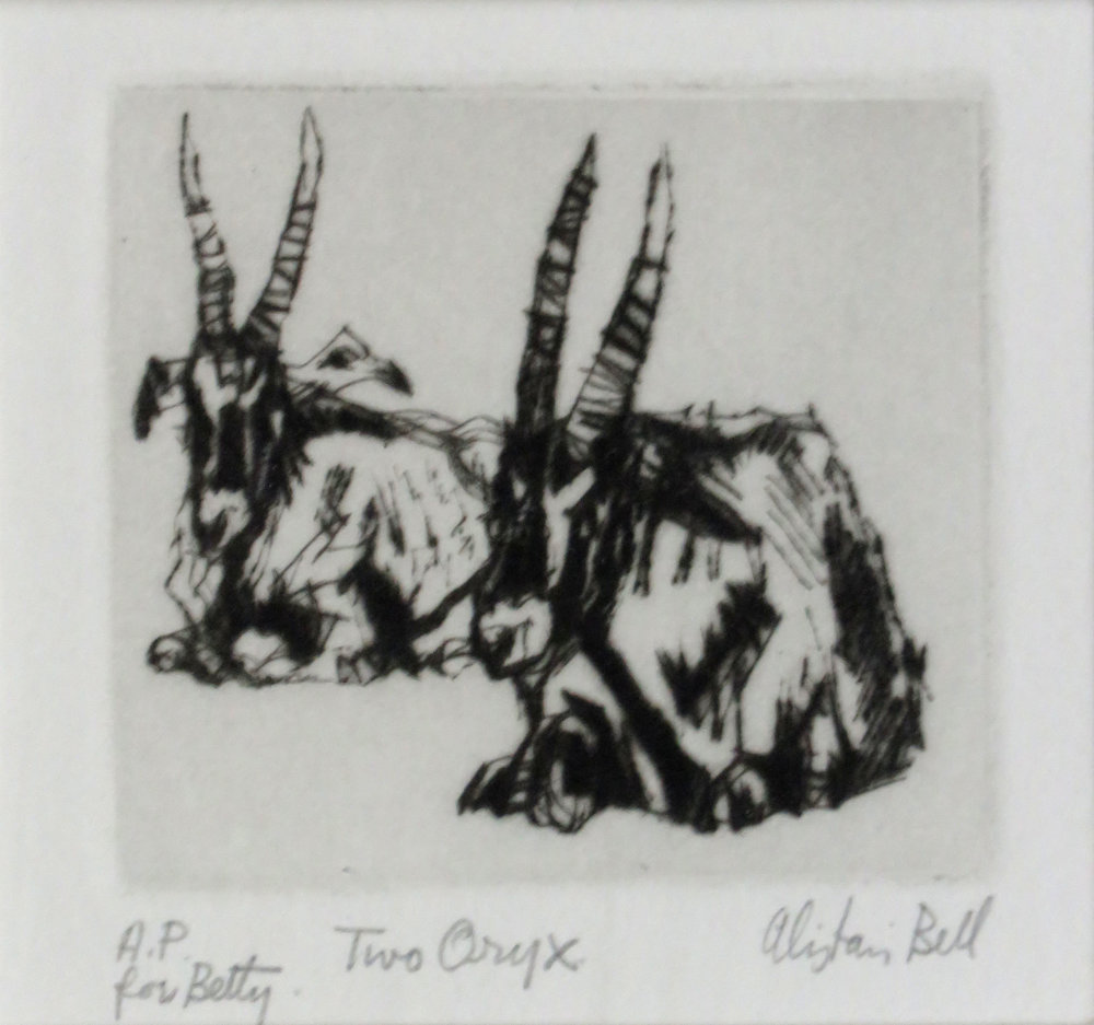 Two Oryx drypoint.jpg