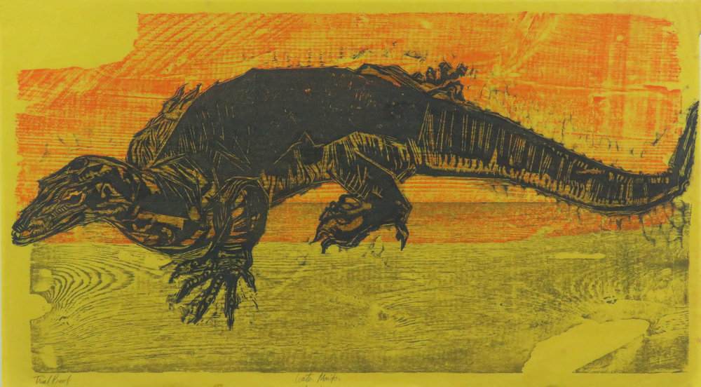 Water Monitor woodcut proof.JPG