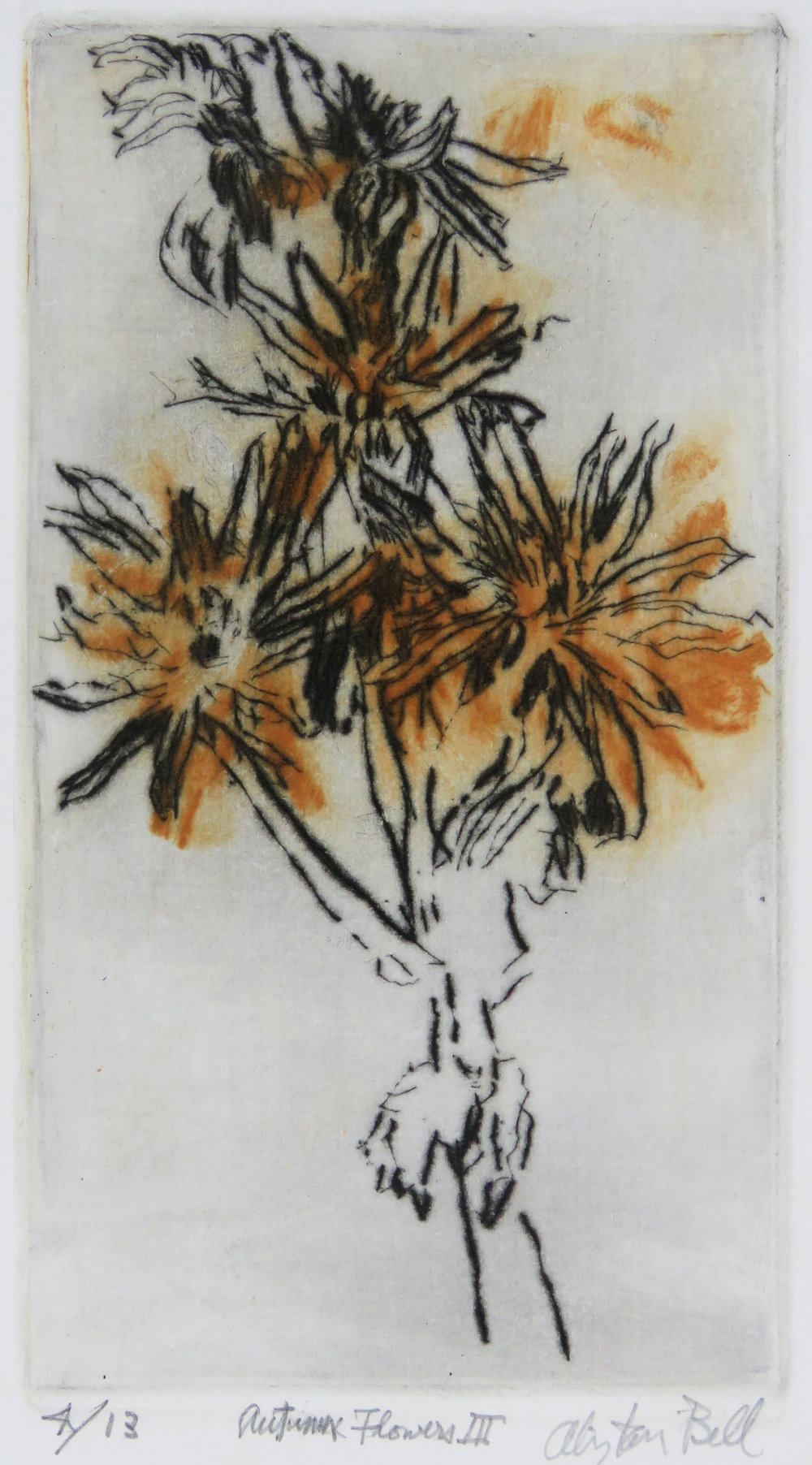 Autumn Flowers III colour drypoint.jpg