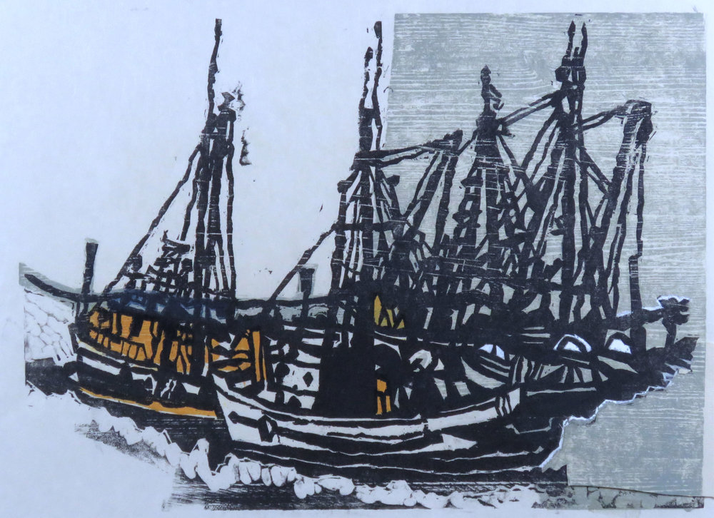 Boats at Celtic woodcut proof 4.jpg