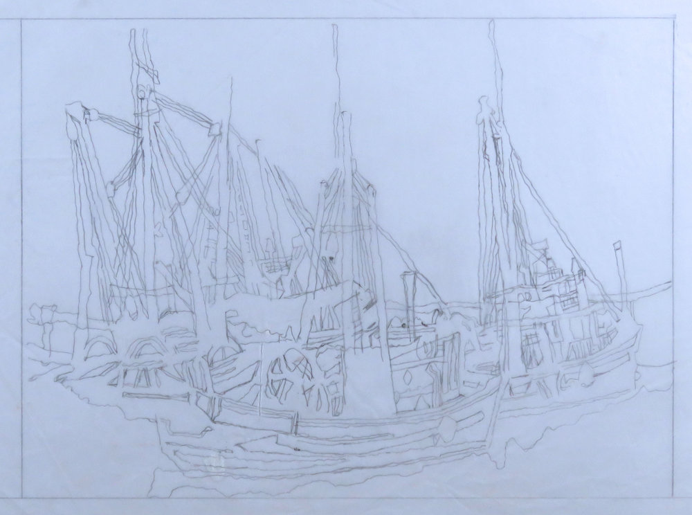 Boats at Celtic woodcut study 1.jpg
