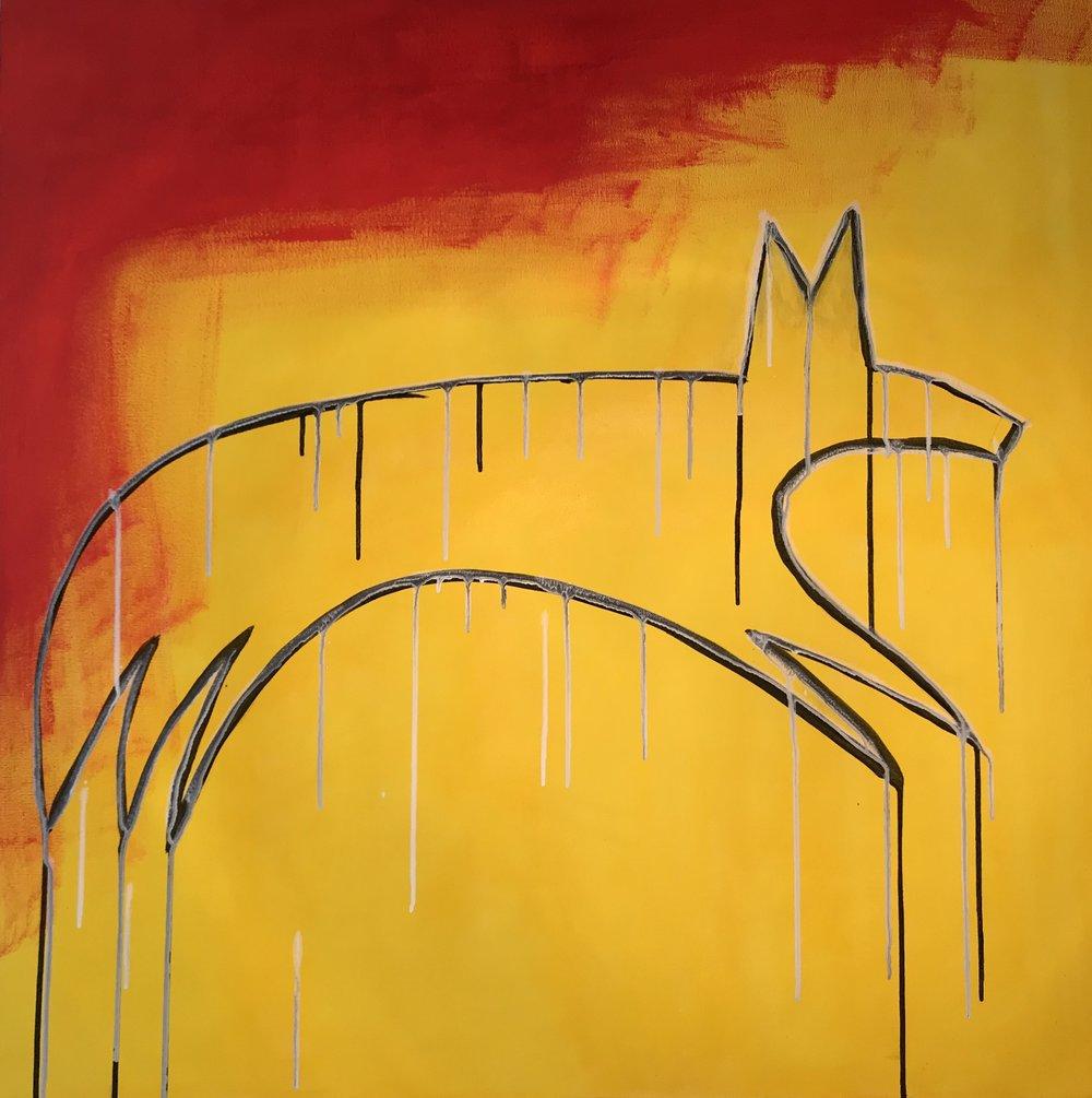 Breanna George, acrylic on canvas