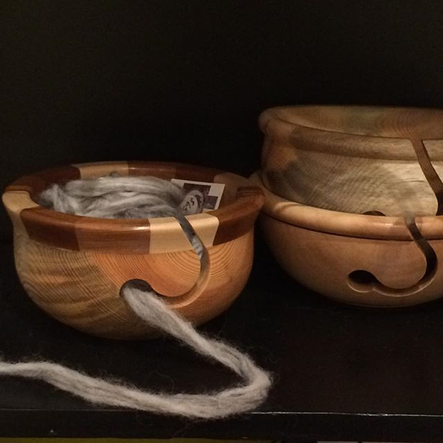 Handmade knitting bowls will keep your yarn clean while you knit. Now in stock at the PAG gift shop in Penticton, they are created by Paul Kirschman of Naramata. #pentictonartgallery #artgallery #handmade #knitting #knittingbowl #naramata #paulkirschman #christmasgifts #handmadechristmas #knottyknitter #undiscoveredpenticton #woodturning #madewithlove #artisan