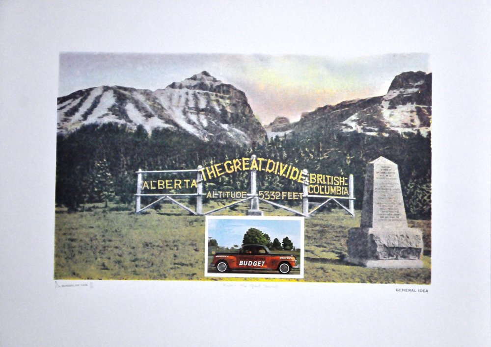 "Five - The Great Divide , 1974, General Idea, photo silkscreen and mixed media, 37/80, 22.6"" x 28.5"" , Gift of the Canada Council Art   Bank, 2008.02.23."