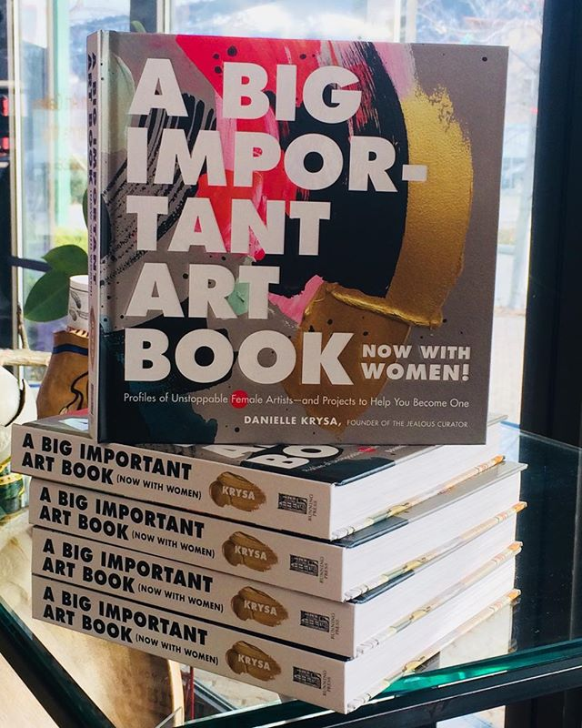 We are so excited to finally have Danielle Krysa's latest book in stock! Now with women artists. A steal at only $32.50 for 308 pages in hard cover. #pentictonartgallery #artbook #jealouscurator #abigimportantartbook #womenartists #creativeinspiration #giftideas #summerlandartist #summerlandartscouncil #summerlandartgallery #visitpenticton #artblogger #artreviews
