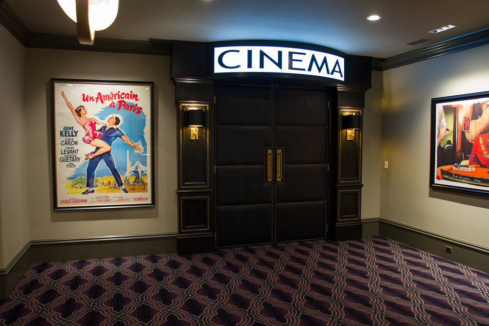 Gorgeous entrance of a recent Sound & Vision design build home theater project. Click for larger image