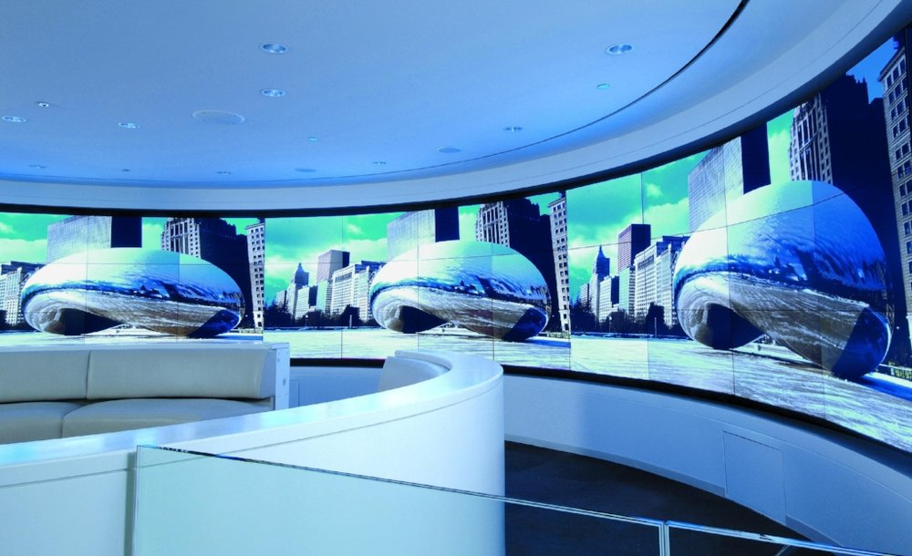 Curved Video Wall Hotel Chicago