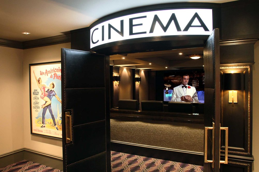 Private Theaters   The magic of the movies captured within your own home.