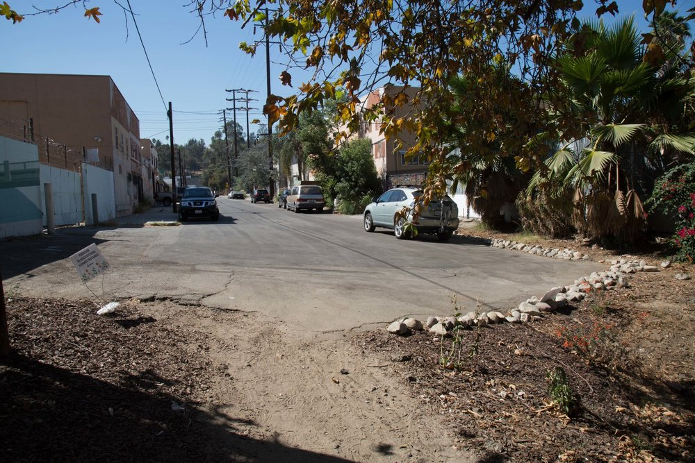 Clearwater Street has some nice street parking for good access to the LA River Bike Path