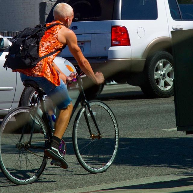 Young Marshall Mathers doppelgänger (minus the bandana shirt and the bike. OK and the shorts too.)
