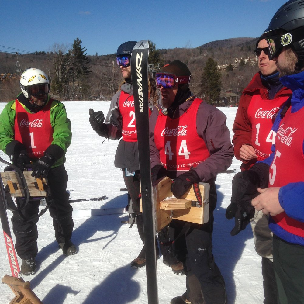 The Mt. Philo jack jump team at the 2016 World championships, Mt. Snow, Vermont: 2017 champ Craig Bunten, Alex Bunten, Tucker Bond-Watts, Ethan Bond-Watts, Sean Hirten. The Mt. Philo team have won 4 of the last 7 years