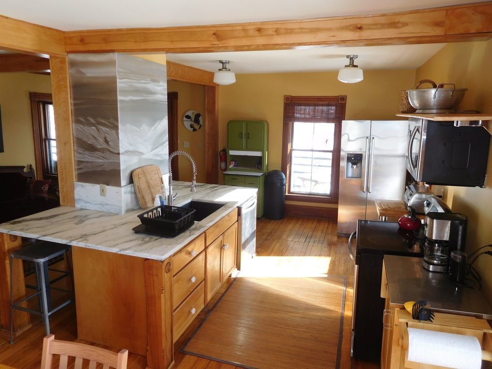 Left Wing kitchen - featuring Danby marble counter, & great views from 4 windows