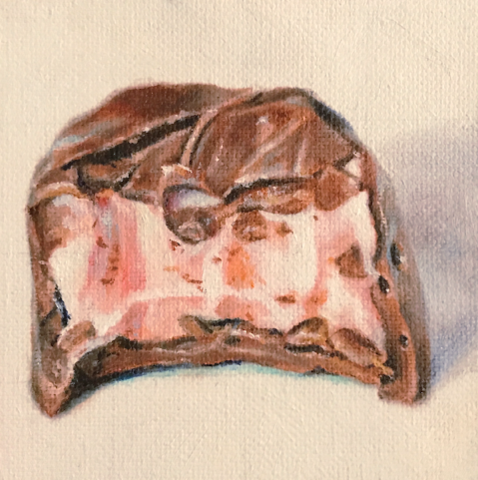 strawberry cream, oil on canvas