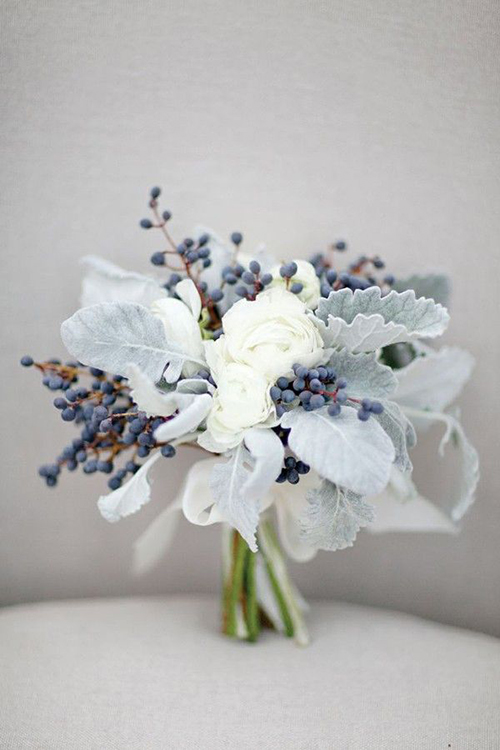 privet berries + dusty miller