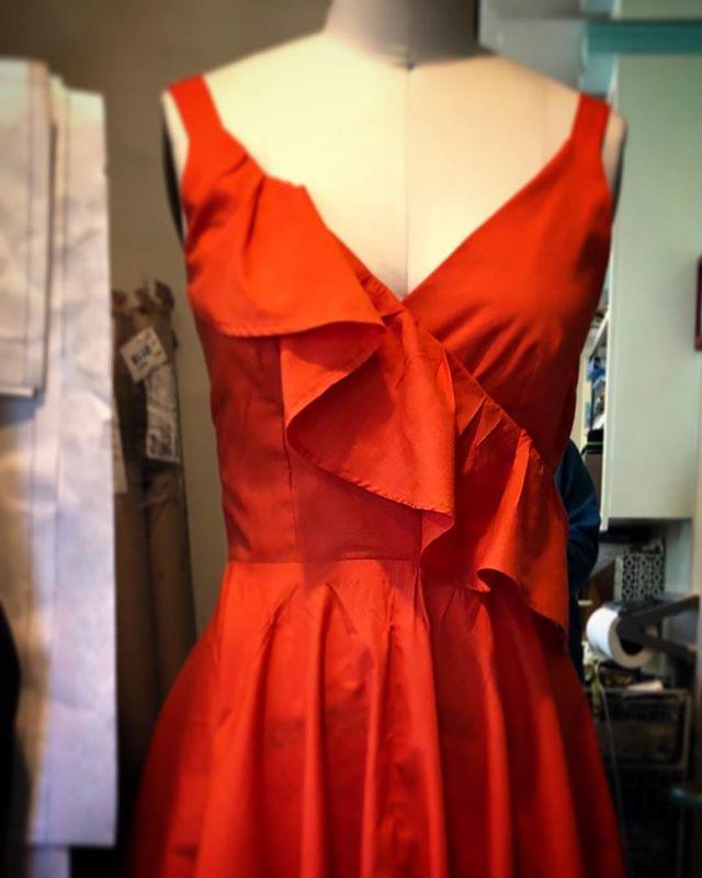 Second dress for West Side Story done today. #meganselbysews #westsidestory #santabarbarahighschool