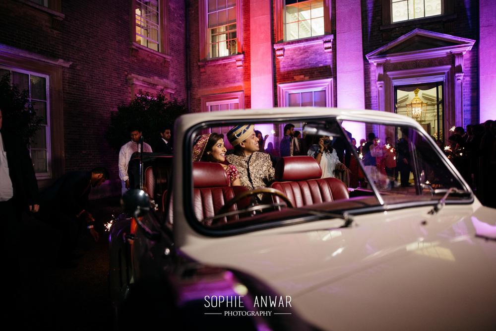 Althorp House Northamptonship luxury muslim asian wedding Princess Diana ancestral home London  sparkler exit
