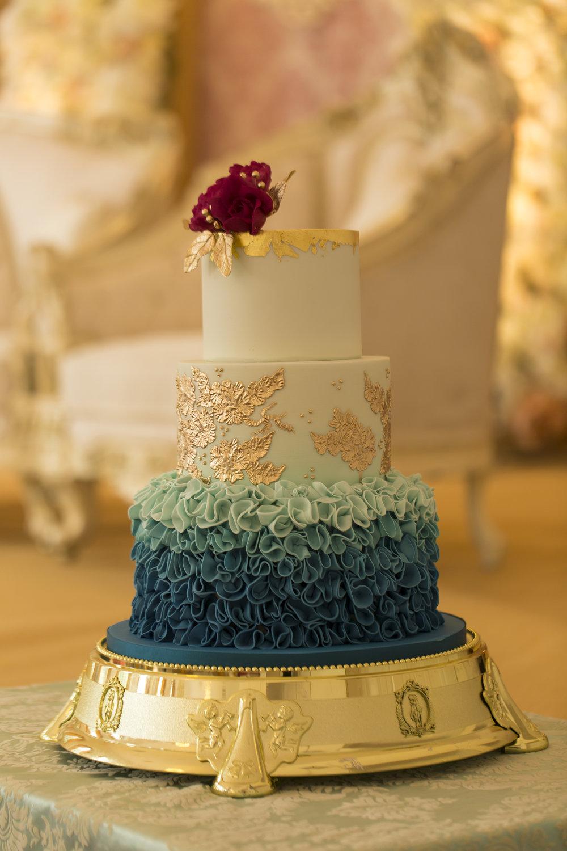 Sana and Khurram Welsh wedding civil ceremony Margam Country park Port Talbot wedding cake details