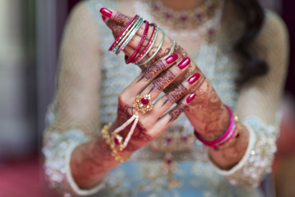 Sana and Khurram Welsh wedding civil ceremony Margam Country park Port Talbot mehndi hands