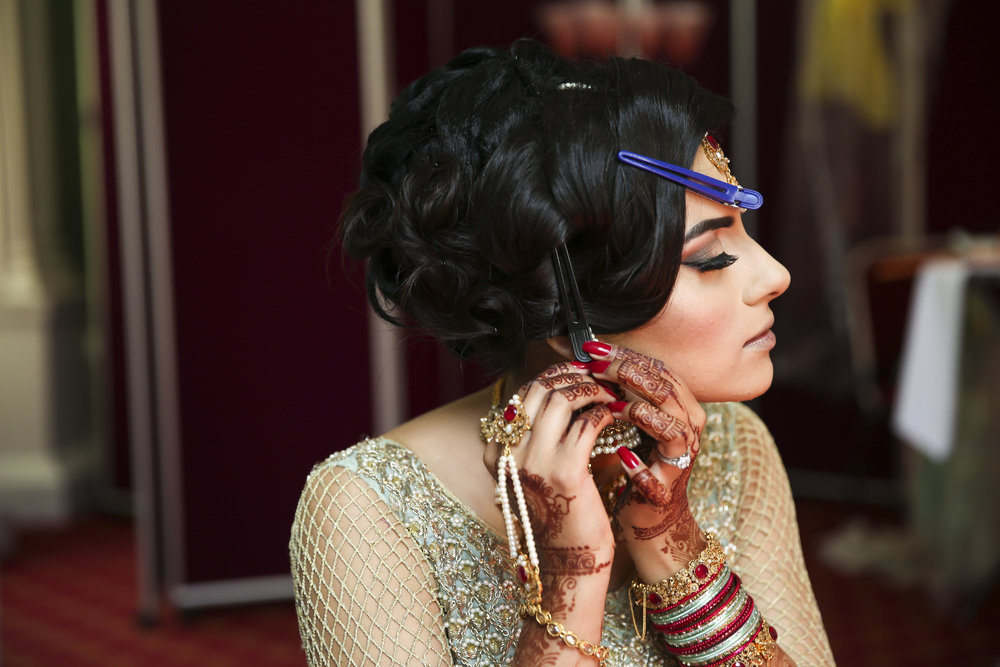 Sana and Khurram Welsh wedding civil ceremony muslim bride makeup Margam Country park Port Talbot bridal makeup mua muslim wedding